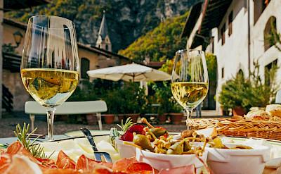 Wine and Italian treats in Verona, Italy.