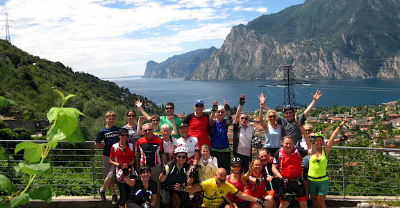 Group shot at Lake Garda in Italy. ©Photo via TO