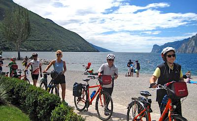 Bike rest at Lake Garda, Italy. ©Photo via TO
