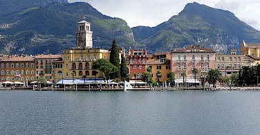 Lake Garda resort Riva del garda in Trentino Alto Adige, Italy. Photo via Wikimedia Commons:High Contrast