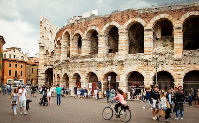 Ruins to see en route Bolzano to Verona Bike Tour. ©Photo via TO