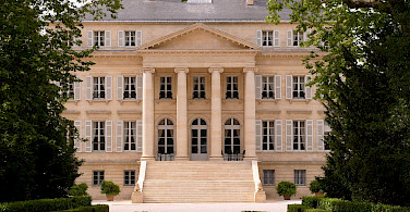 Chateau Margaux welcomes you in Margaux, France.... Photo via Wikimedia Commons:Public Domain