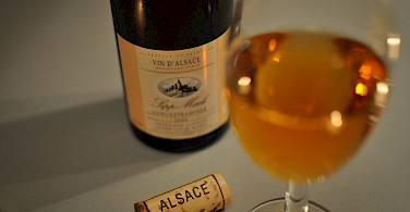 Many local wines to try in Alsace, France and Germany. Photo via Flickr:Sylvain Naudin