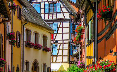 Bike rest in Eguisheim, Alsace, France. Flickr:Kiefer