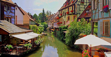 Canal through Colmar, Alsace, France. Photo via Flickr:Francisco Antunes