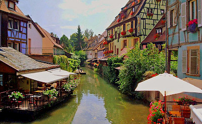 Canal through Colmar, Alsace, France. Flickr:Francisco Antunes