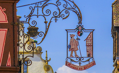 Decorative signs in Colmar, Alsace, France. Flickr:Kiefer