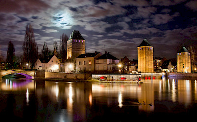 Strasbourg moonlit. Alsace, France. Flickr:Carlos and Res Reyes