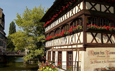Half-timbered architecture in Strasbourg, France. CC:Jonathan Martz