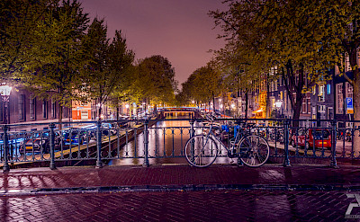 Nighttime in Amsterdam, North Holland, the Netherlands. Flickr:Syuqoraizzat