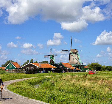 Biking outside Amsterdam in North Holland, the Netherlands. Photo via Flickr:Francesca Cappa