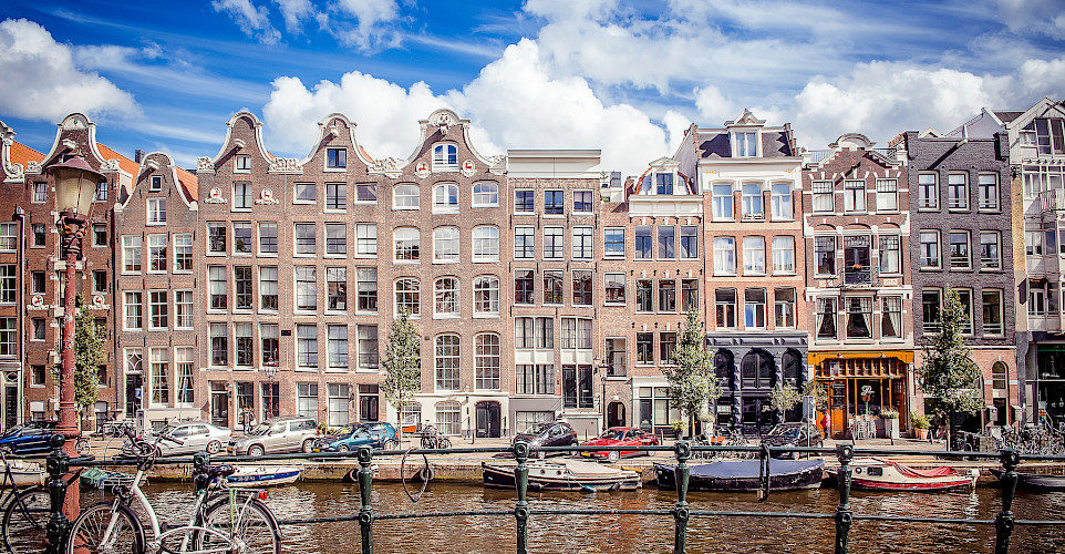 Famous facades of Amsterdam, the Netherlands. Photo via Flickr:Andres Nieto Porras