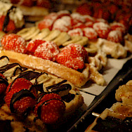 Belgian waffles make great biking fuel! Photo via Flickr:Jason Rogers