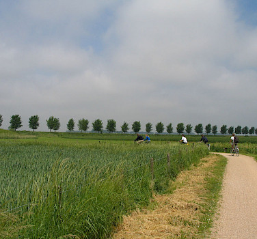 Biking near Bruges, West Flanders, Belgium. Photo via Flickr:csbelgium