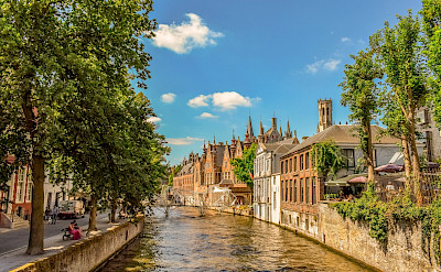 Canal in Bruges, Belgium. ©TO