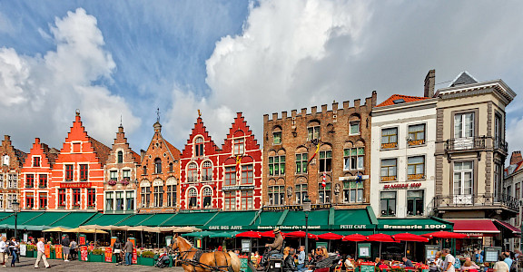 Grote Markt in Bruges, West Flanders, Belgium. ©Hollandfotograaf