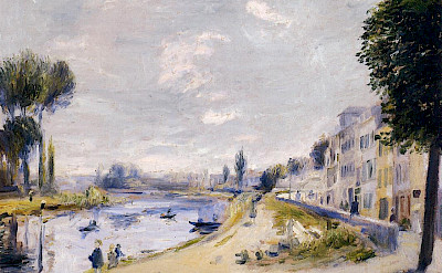 Renoir's Banks of the Seine painting done in Bougival, France. Monet and others painted here also.