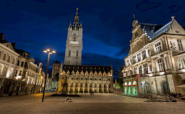 Belfry Square, Ghent, Belgium. Photo via Flickr:Jiuguang Wang