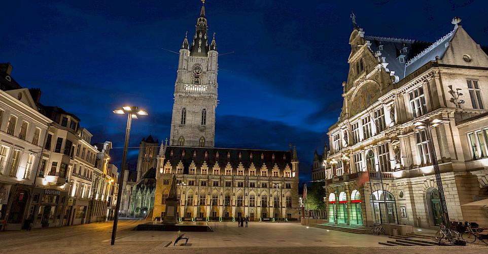 Belfry Square, Ghent, Belgium. Photo via Flickr:Jiuguang Wang