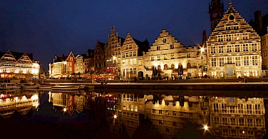 Ghent on the Leie River, Belgium. Photo via Flickr:Sandeep Pawar