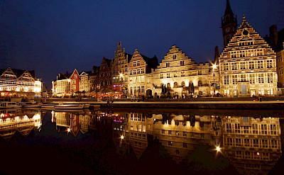 Ghent on the Leie River, Belgium. Photo via Flickr:Sandeep Pawar