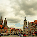 Bike rest in Tournai, Belgium. Photo via Flickr:Daxis