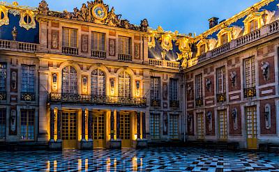 Marble courtyard at Palace of Versailles, France. Photo via Flickr:Ninara