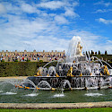Fountain and gardens at Palace Versailles, France. Photo via Wikimedia Commons:Wandernder Weltreisender