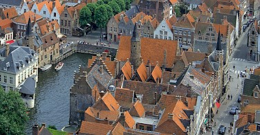 Aerial view of Bruges. Photo via Flickr:Benjamin Rossen