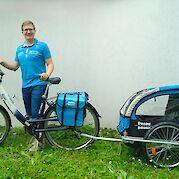 Kiddy Van with touring bike