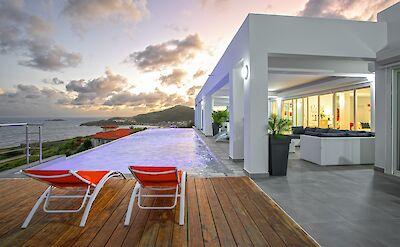 Villa Pool Evening