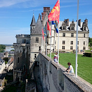 Château d'Amboise along the Loire River in France. Flickr:Moto Itinerari