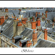 Gray roofs characterize the Loire Valley region . Blois, France. Flickr:@lain G