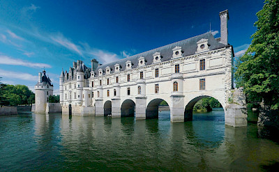 Château de Chenonceau on the Cher River, Loire Valley, France. Wikimedia Commons:Ra-smit