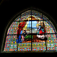 Stained glass windows at Chateau de Cheverny, France. Flickr:ho visto nina volare