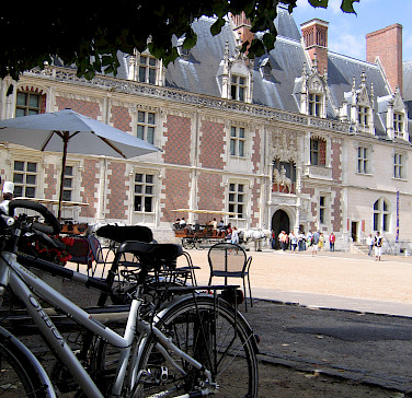 Off the bike for a visit to Chateau de Blois, France. Photo courtesy of Tour Operator.