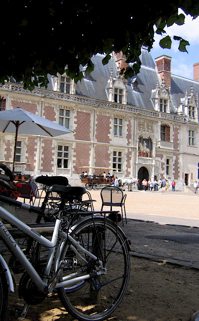 Bike rest in Chateau de Blois, France. Photo courtesy TO