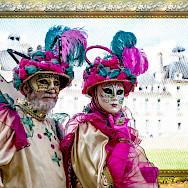 Parade de Masques at Château de Cheverny, Loire Valley, France. Flickr:Angelo Brathot