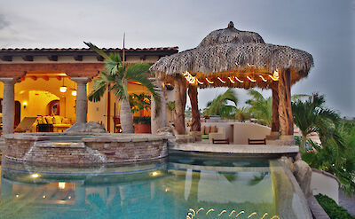 Casa Corona View Of Palapa Pool Bar And Jacuzzi