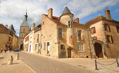 The characteristic beige stone in the small villages of Northern Burgundy, France. Flickr:random_fotos