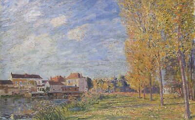 Indian Summer Moret Sunday Afternoon by Alfred Sisley, 1888
