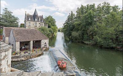 Biking through Moret-sur-Loing, France. Flickr:GKSens-Yonne