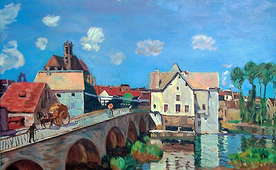 Moret-sur-Loing by Alfred Sisley. He painted the town extensively, and also died there. Circa 1893