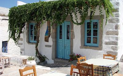 Restaurant on Patmos Island, Greece. Flickr:Kostas Limitsios