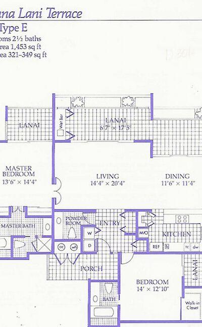 MLT E Floorplan 2 Bd