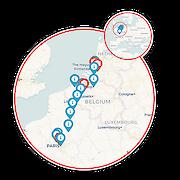 Rotterdam to Paris Map