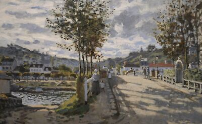 """""""The Seine at Bouvigal"""" in France by Claude Monet, 1869"""