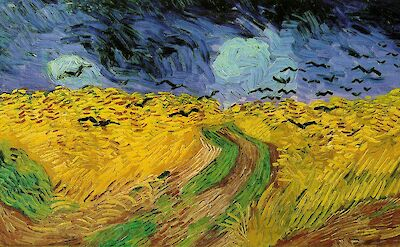 Wheat Field with Crows, one of Vincent van Gogh's last paintings in July 1890
