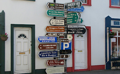 Signs in Ballyvaughan, Co. Clare, Ireland. Flickr:GerryJ10