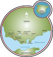 La costa de Andalucía Mapa